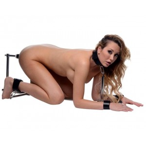 Pilori de contrainte BDSM metal stockade - Boutique SM Malins-Plaisirs.com