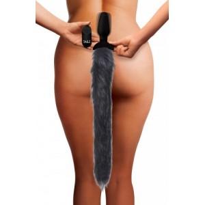 Plug anal vibrant queue de renard Pet-Play - Sexshop SM Malins-Plaisirs